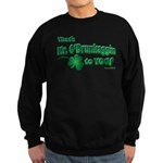 St Patrick's Day t-shirt, Mr Sweatshirt (dark)