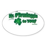 St Patrick's Day t-shirt, Mr Sticker (Oval 50 pk)