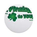 St Patrick's Day t-shirt, Mr Ornament (Round)