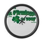 St Patrick's Day t-shirt, Mr Large Wall Clock