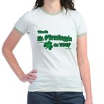 St Patrick's Day t-shirt, Mr Jr. Ringer T-Shirt