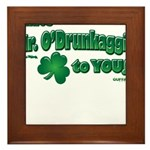 St Patrick's Day t-shirt, Mr Framed Tile