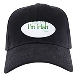 Kiss Me I'm Irish Black Cap