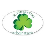 Go Green... One Beer at a Tim Sticker (Oval 10 pk)