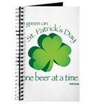 Go Green... One Beer at a Tim Journal