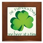 Go Green... One Beer at a Tim Framed Tile
