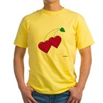Valentine's Day Cherries Yellow T-Shirt