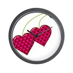 Valentine's Day Cherries Wall Clock