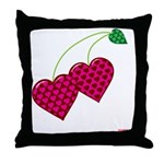 Valentine's Day Cherries Throw Pillow