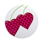 Valentine's Day Cherries Ornament (Round)