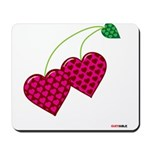 Valentine's Day Cherries Mousepad