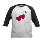 Valentine's Day Cherries Kids Baseball Jersey