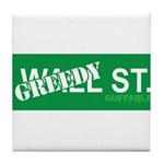 Greedy St. Tile Coaster