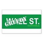Greedy St. Sticker (Rectangle)