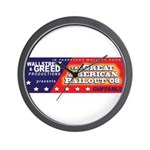 Wallstreet & Greed Wall Clock