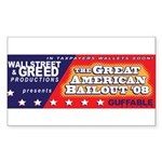 Wallstreet & Greed Sticker (Rectangle 50 pk)