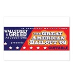Wallstreet & Greed Postcards (Package of 8)