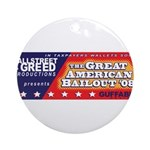 Wallstreet & Greed Ornament (Round)