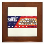 Wallstreet & Greed Framed Tile