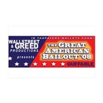 Wallstreet & Greed 38.5 x 24.5 Wall Peel