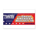 Wallstreet & Greed 22x14 Wall Peel