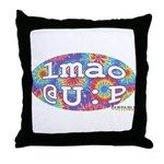 lmao @ U : P Throw Pillow