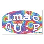 lmao @ U : P Sticker (Rectangle 50 pk)