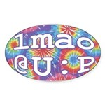 lmao @ U : P Sticker (Oval)