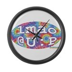 lmao @ U : P Large Wall Clock