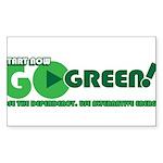 Go Green! Sticker (Rectangle)