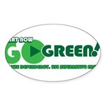 Go Green! Sticker (Oval)