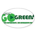 Go Green! Sticker (Oval 10 pk)