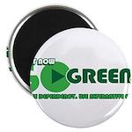 """Go Green! 2.25"""" Magnet (100 pack)"""