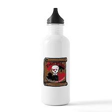 Poker Pirate Scroll Sports Water Bottle