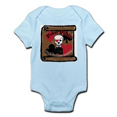 Poker Pirate Scroll Infant Bodysuit