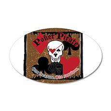 Poker Pirate Scroll 38.5 x 24.5 Oval Wall Peel