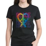 PeaceLoveRibbon_4 Women's Dark T-Shirt