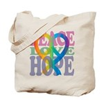 PeaceLoveRibbon_4 Tote Bag