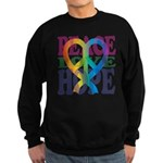 PeaceLoveRibbon_4 Sweatshirt (dark)