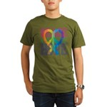 PeaceLoveRibbon_4 Organic Men's T-Shirt (dark)