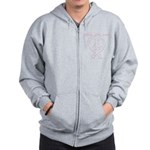 PeaceLoveRibbon_2 Zip Hoodie