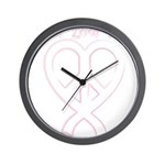 PeaceLoveRibbon_2 Wall Clock