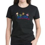 Pro-Life Flowers & Butterfly Women's Dark T-Shirt