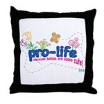 Pro-Life Flowers & Butterfly Throw Pillow