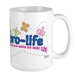 Pro-Life Flowers & Butterfly Large Mug