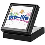 Pro-Life Flowers & Butterfly Keepsake Box