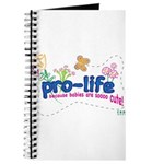 Pro-Life Flowers & Butterfly Journal