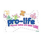 Pro-Life Flowers & Butterfly 38.5 x 24.5 Wall Peel