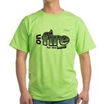 On Fire for the Lord 2 black Green T-Shirt