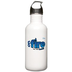 On Fire for the Lord 2 blue Water Bottle